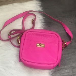 J. Crew Pink Leather Crossbody Purse